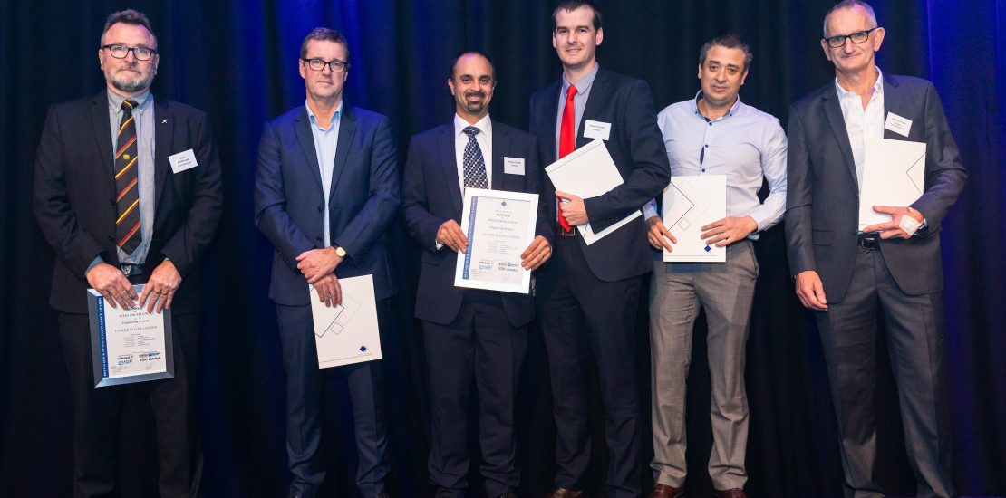 Loadquip team accepting the Queensland steel excellence awards
